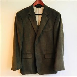 Jos. A. Bank Sport Coat in Green Synthetic Suede